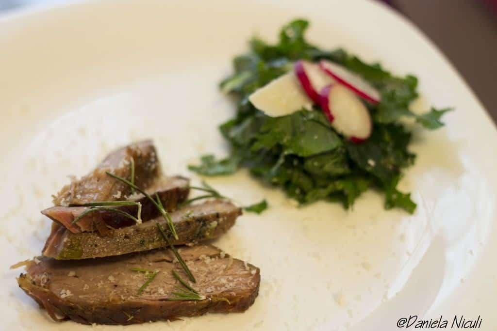 Pulpa de vitelcu salata de Kale