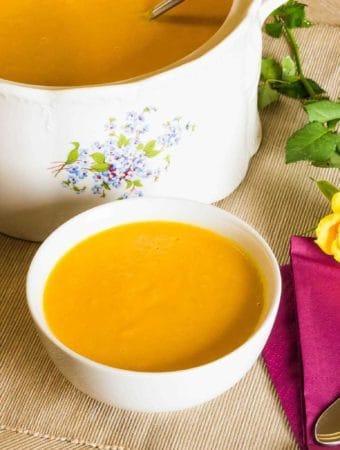 Supa picanta de cartof dulce