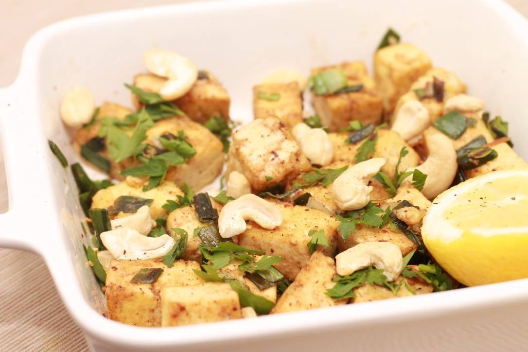 tofu prajit cu sos de stridii