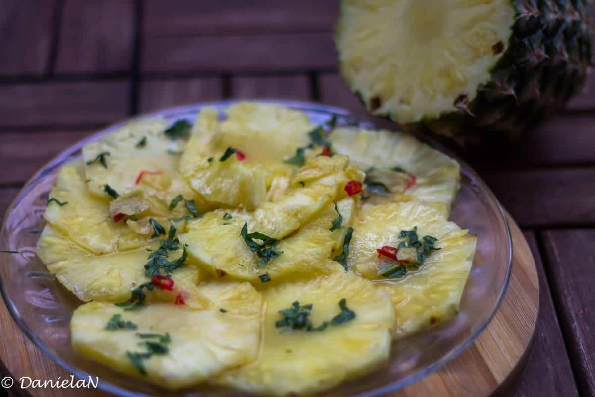 carpaccio de ananas