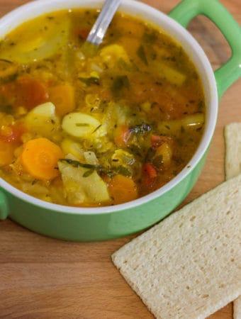 Supă de linte cu dovlecei