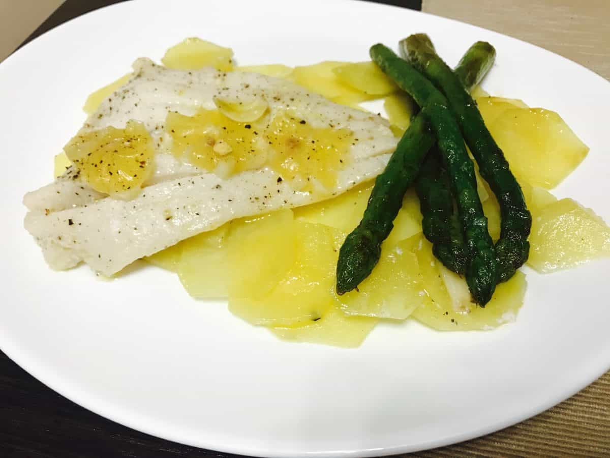 halibut in papiota