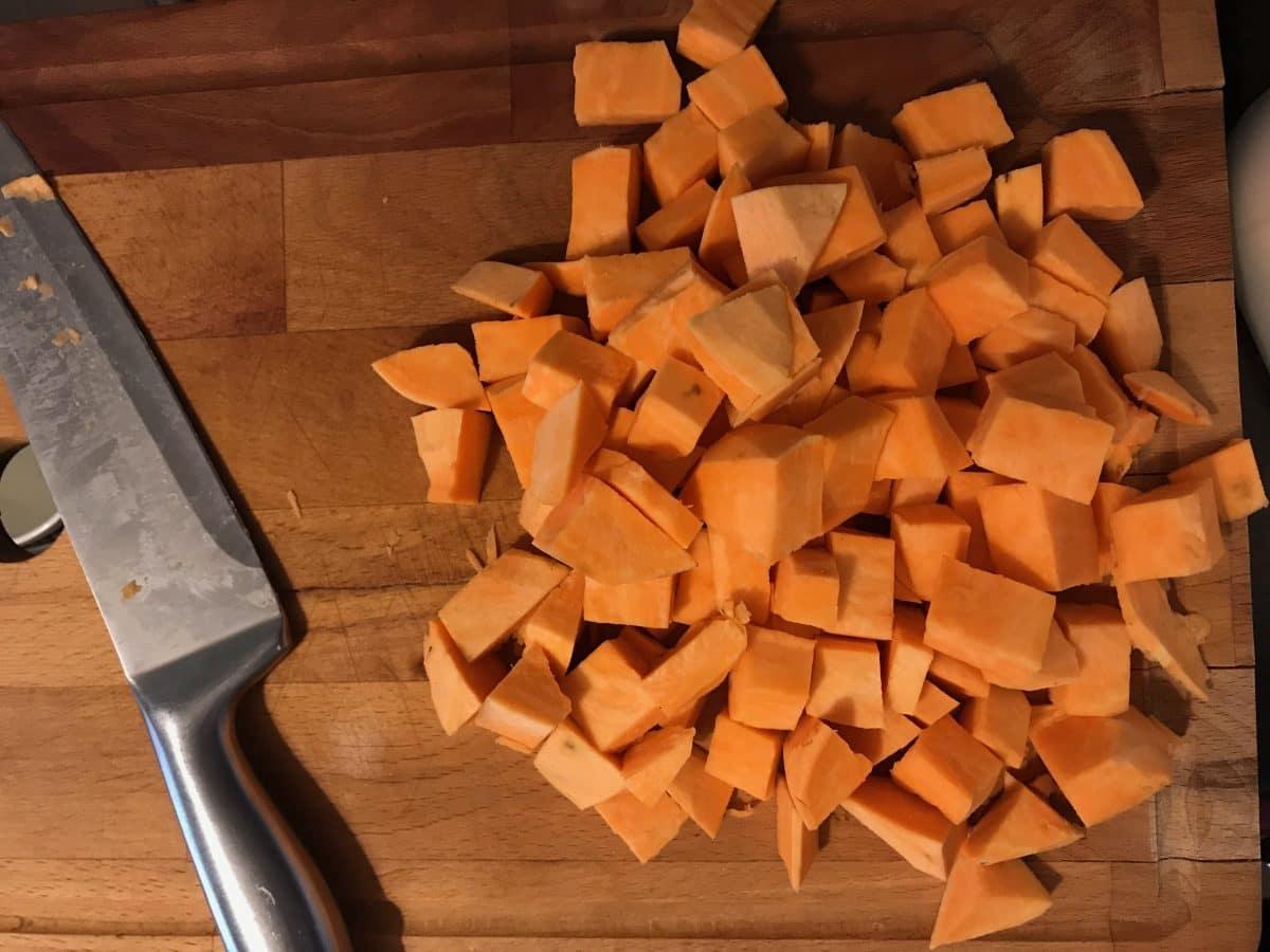 spanac cu cartof dulce la cuptor
