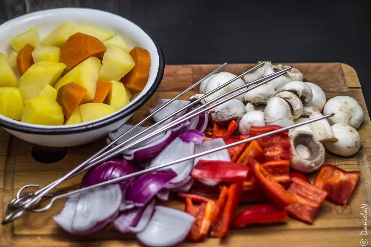 frigarui de legume la cuptor