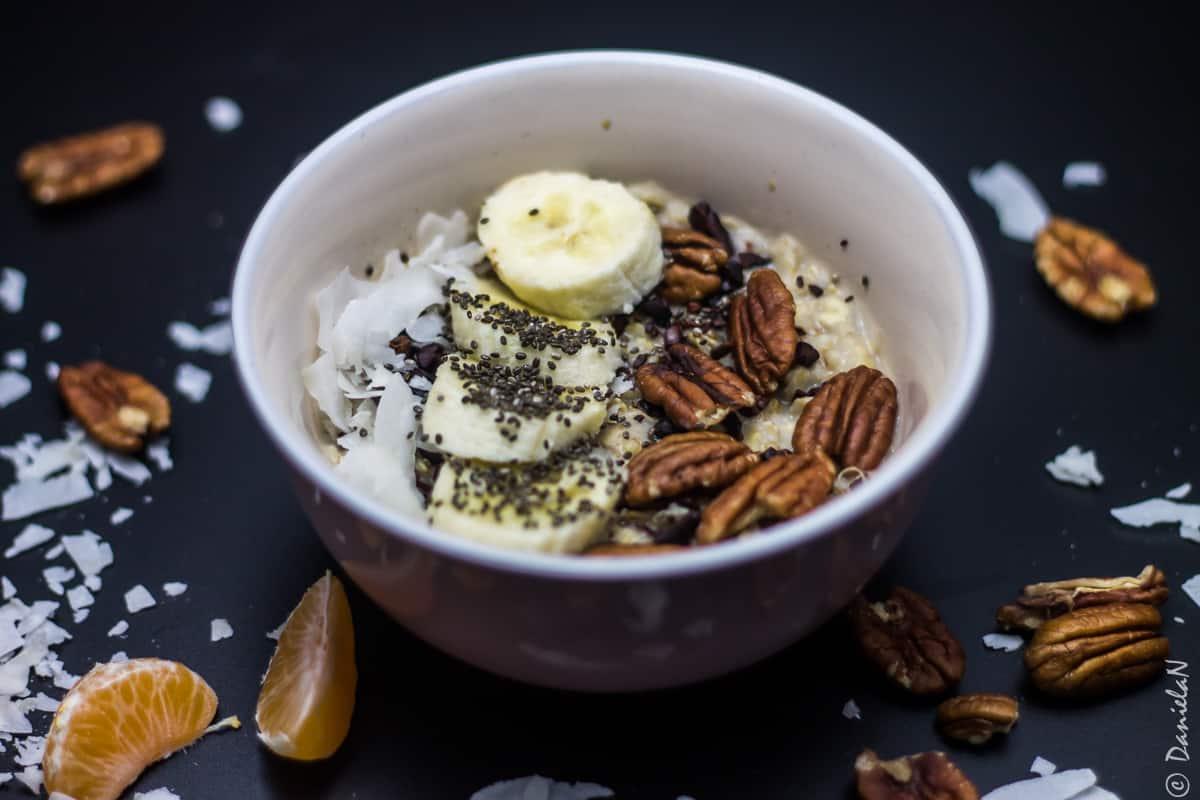 oatmeal cu banana si seminte de chia
