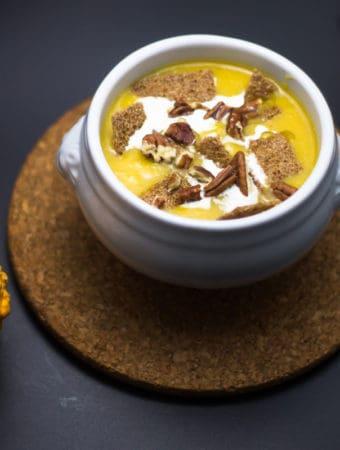 supa de dovleac cu praz